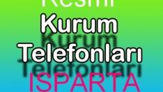 ISPARTA RESMİ KURUM TELEFONLARI