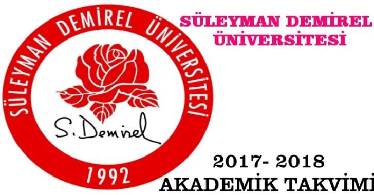SDÜ AKADEMİK TAKVİM 2017-2018