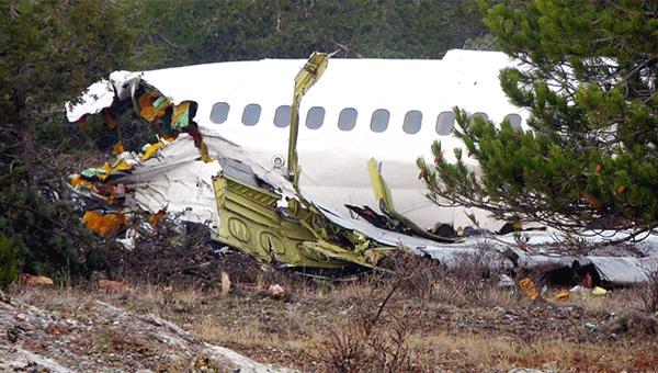 ıspartaya düşen uçak