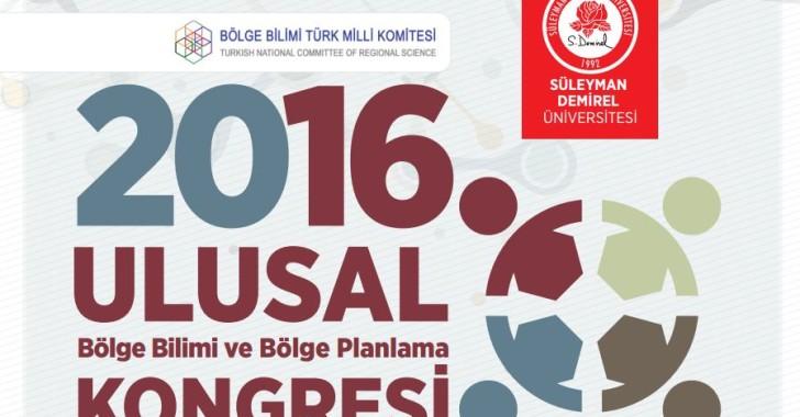 16. ULUSAL BÖLGE BİLİMİ VE BÖLGE PLANLAMA KONGRESİ